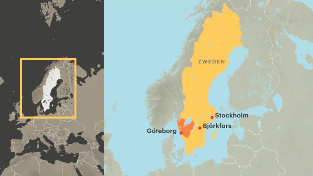 Alleen rond Göteborg geldt code oranje nog.