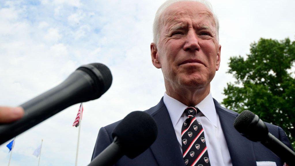Joe Biden, kandidaat van de Democraten en uitdager van president Trump.