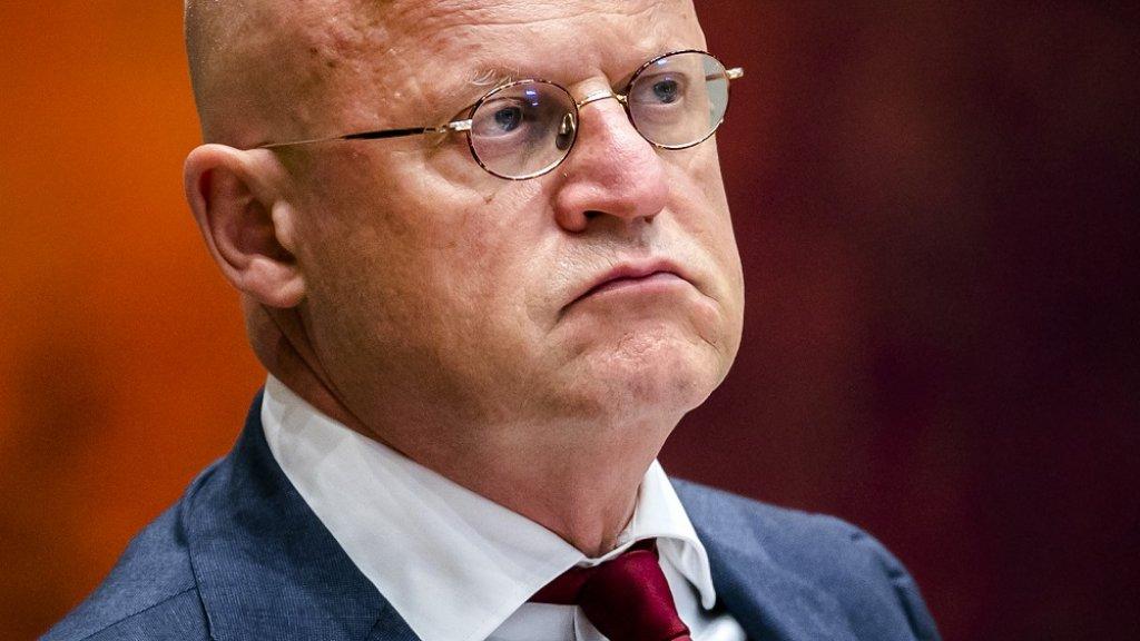 Minister Grapperhaus tijdens het debat.
