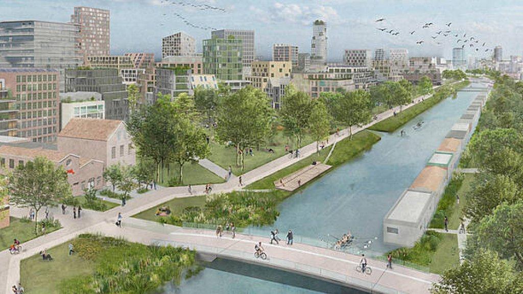 Impressie van de Merwedekanaalzone in Utrecht