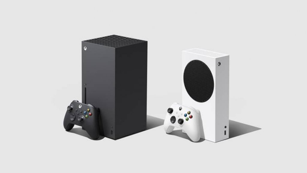 Xbox Series X links, Series S rechts