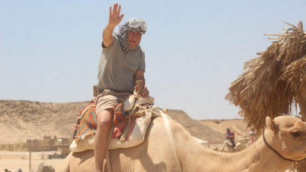 Ahmed, op zijn laatste vakantie in Egypte.