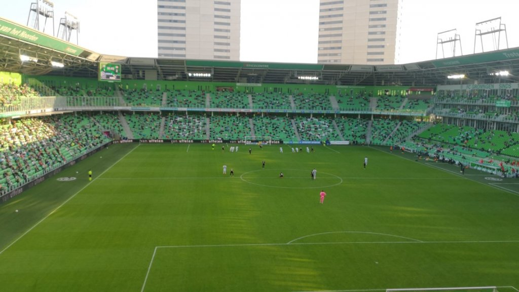 PSV mist een penalty. Heel even was er nog hoop voor Groningen.