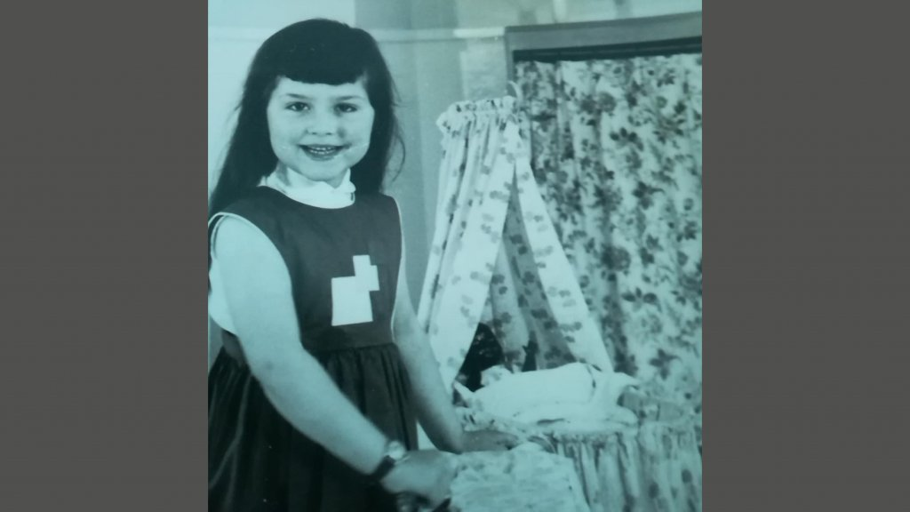 Een van de foto's die Jeannette naar haar vader stuurde.