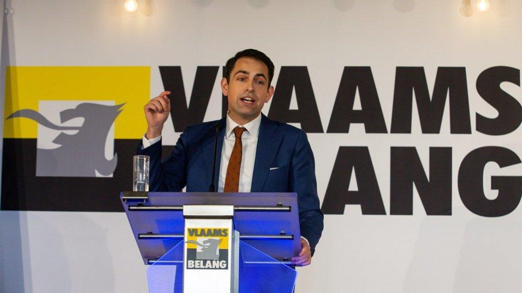 De Vlaams-nationalistische partij Vlaams Belang was tijdens de verkiezingen een van de grote winnaars.