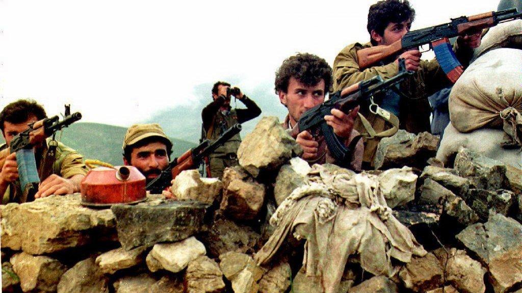 Armeense rebellen aan het front (1992)