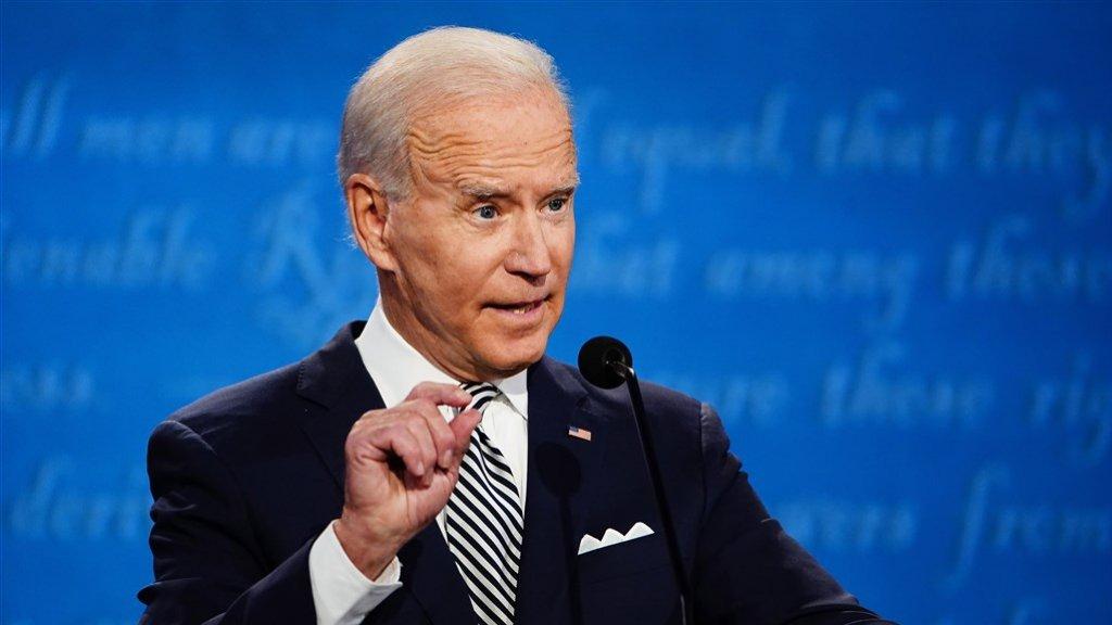 Uitdager Joe Biden kwam vaak niet aan zijn punten toe