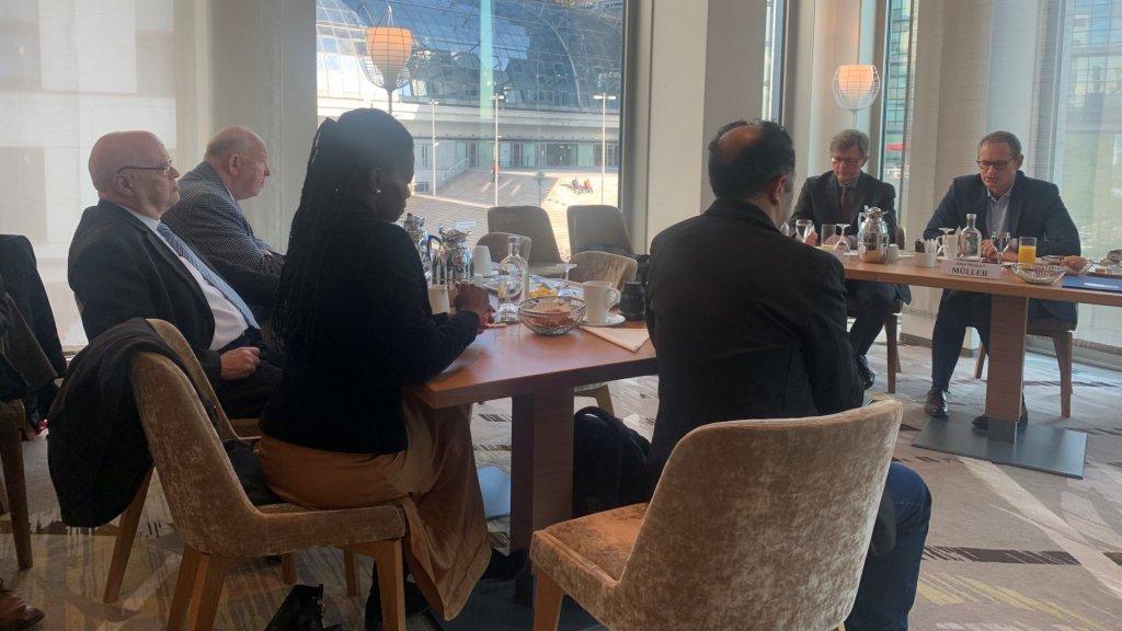 Het ontbijt met de burgemeester van Berlijn.