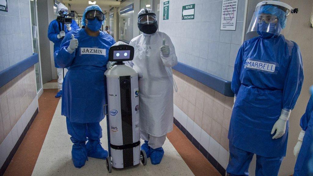 Robot ondersteunt zorgpersoneel in Mexico