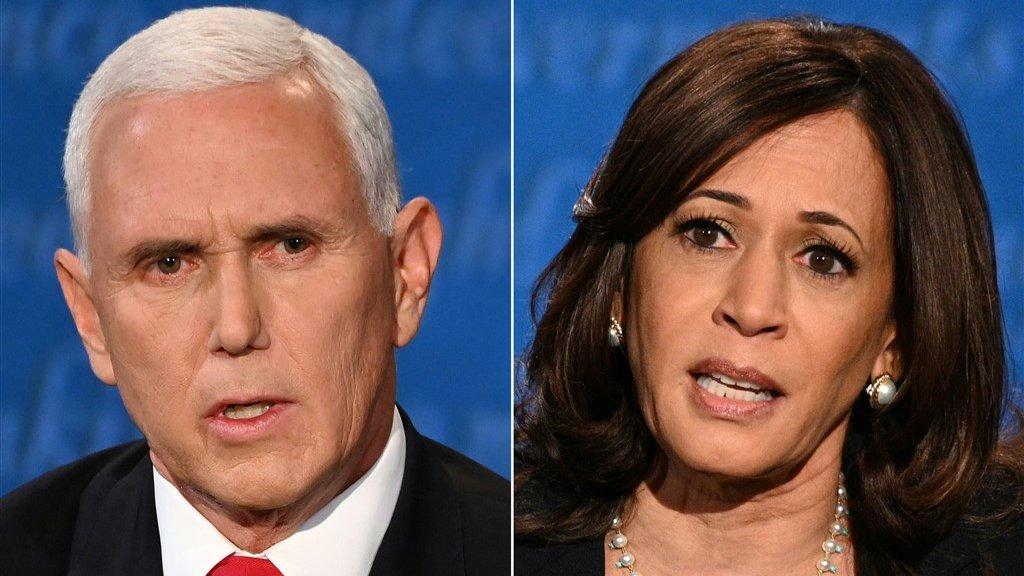 Pence en Harris richtten zich tot het Amerikaanse volk.