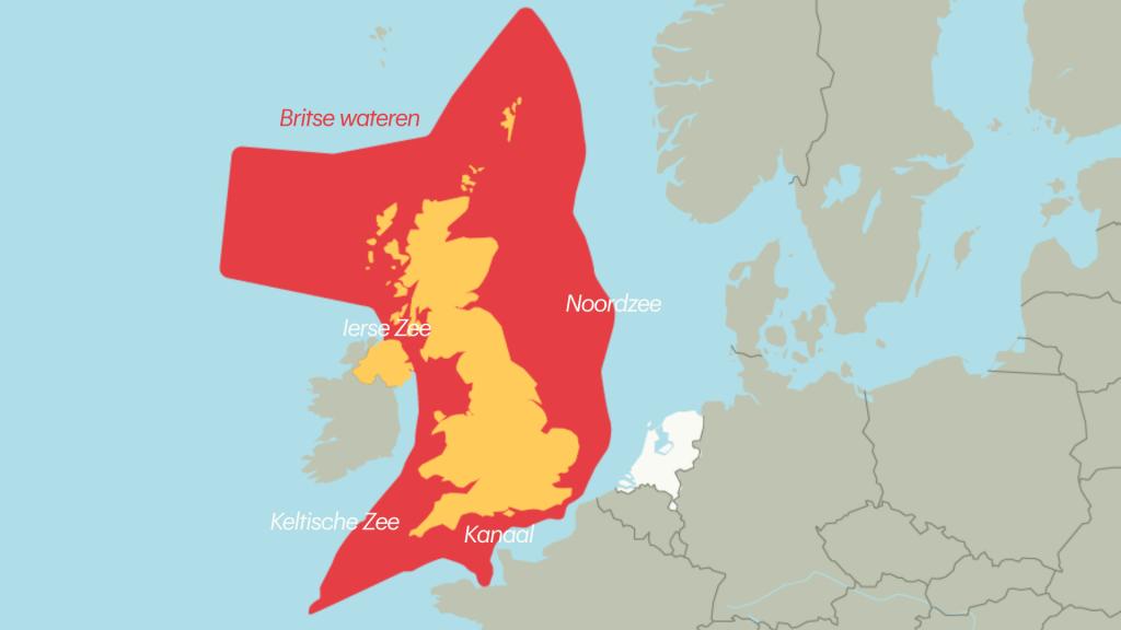 De Britse wateren.