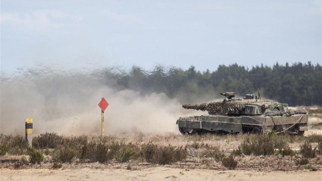 Een tank tijdens NAVO-oefeningen in Polen