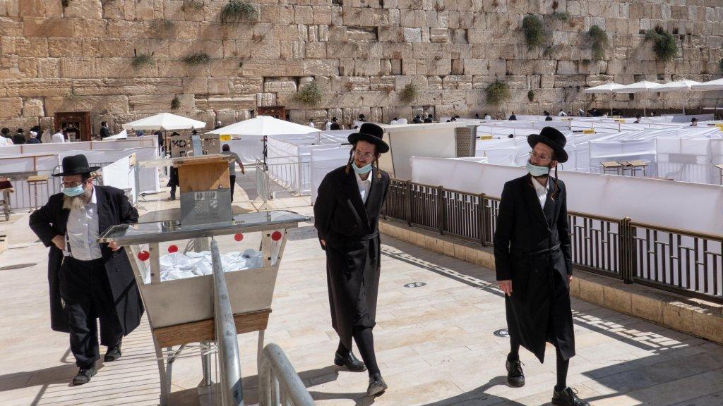 Ultraorthodoxe joden bij de Klaagmuur