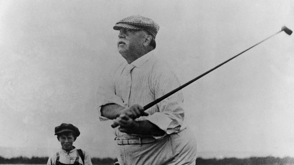 Howard Taft was in 1909 de eerste president op de golfbaan.