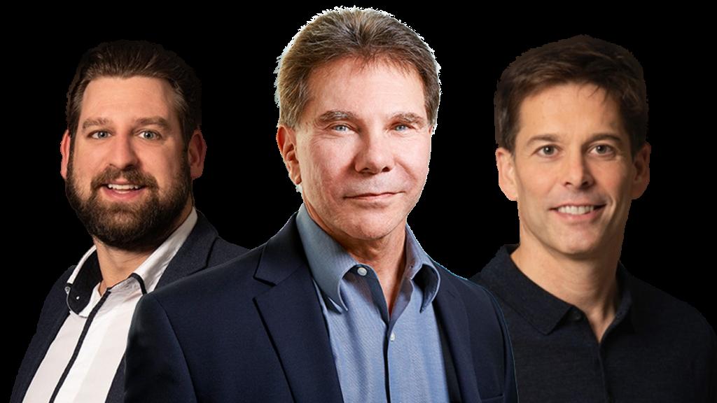 Bas Wouters, Robert Cialdini en Joris Groen (vlnr)