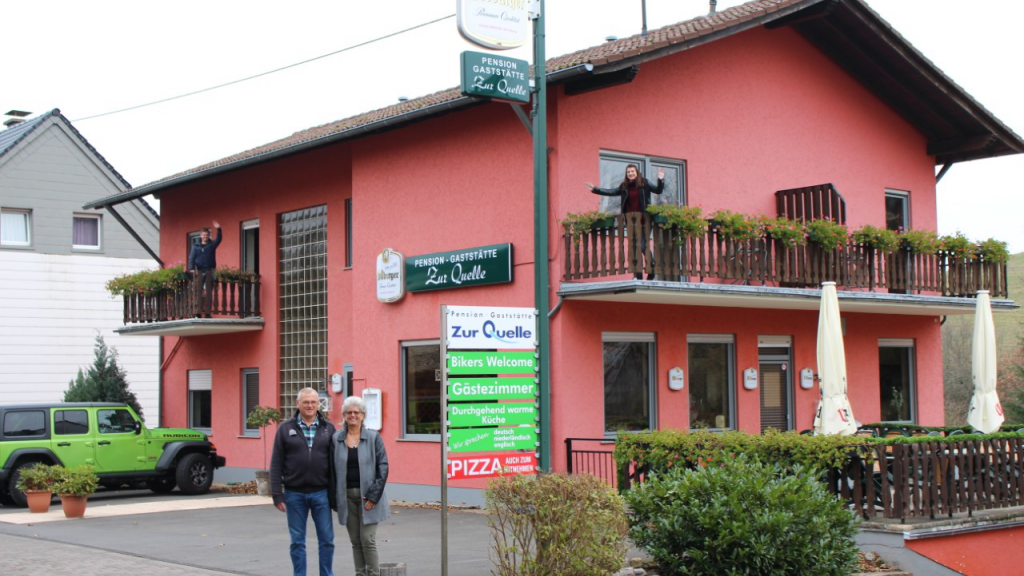 Het pension ligt in de Duitse Eifel