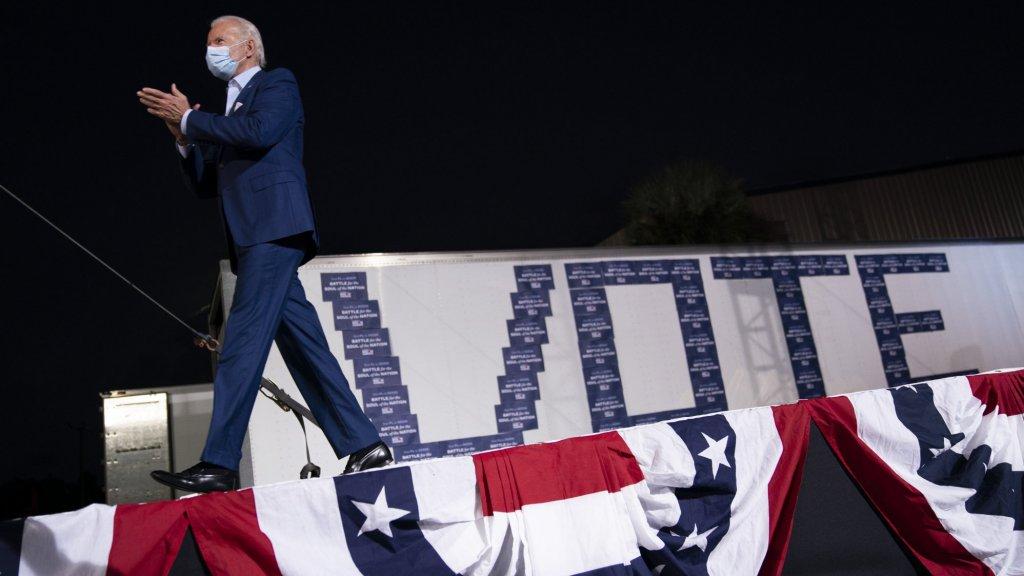 Presidentskandidaat Biden op campagne in de Amerikaanse staat Florida.