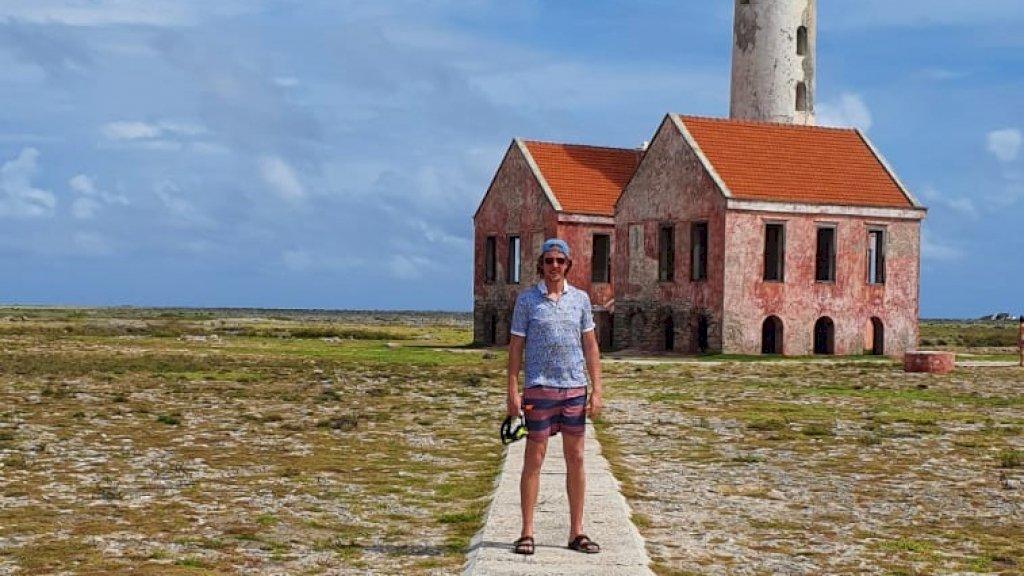 Remco op vakantie in Curaçao.