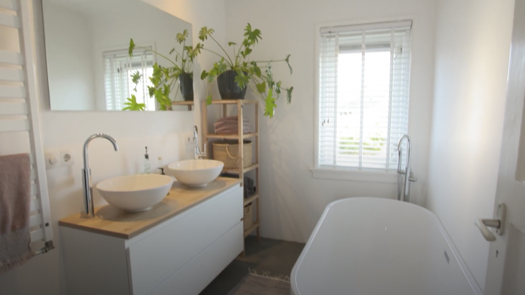Opgeknapte badkamer