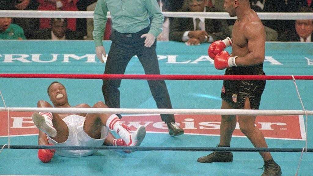 En weer een knock-out. Slachtoffer Larry Holmes (1988)