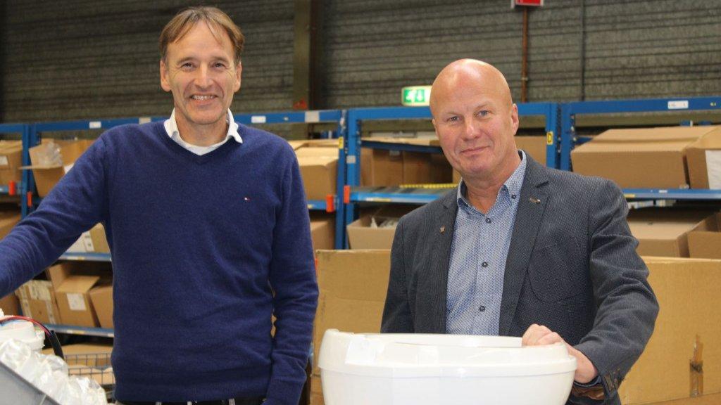 Johan Vincenten (links) en Bartho Anderson.