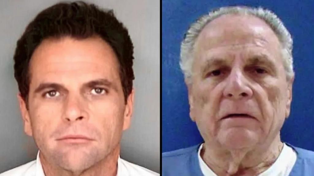 Richard DeLisi: links zoals hij in 1989 de gevangenis inging, rechts zoals hij er deze week uitkwam