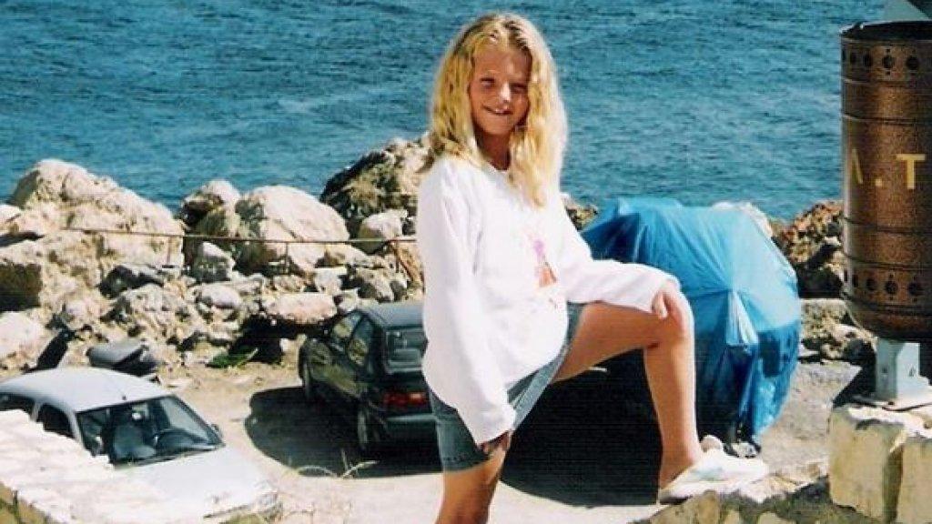 Melissa als klein meisje.