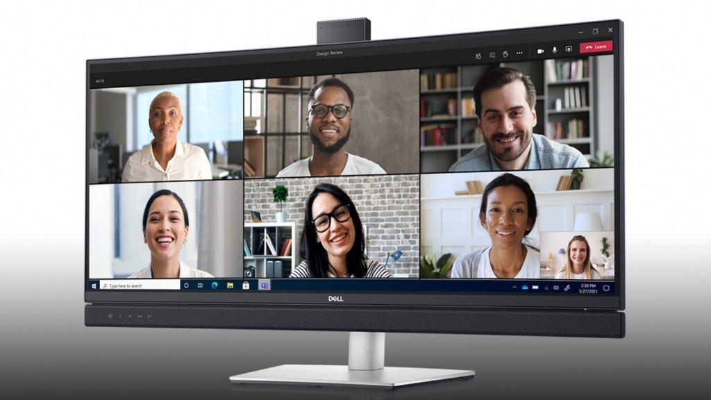 De Teams-monitor van Dell.