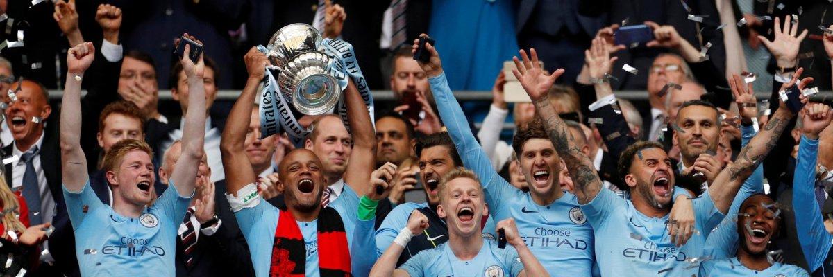 Manchester City wint FA cup en pakt eerste Engelse triple ooit