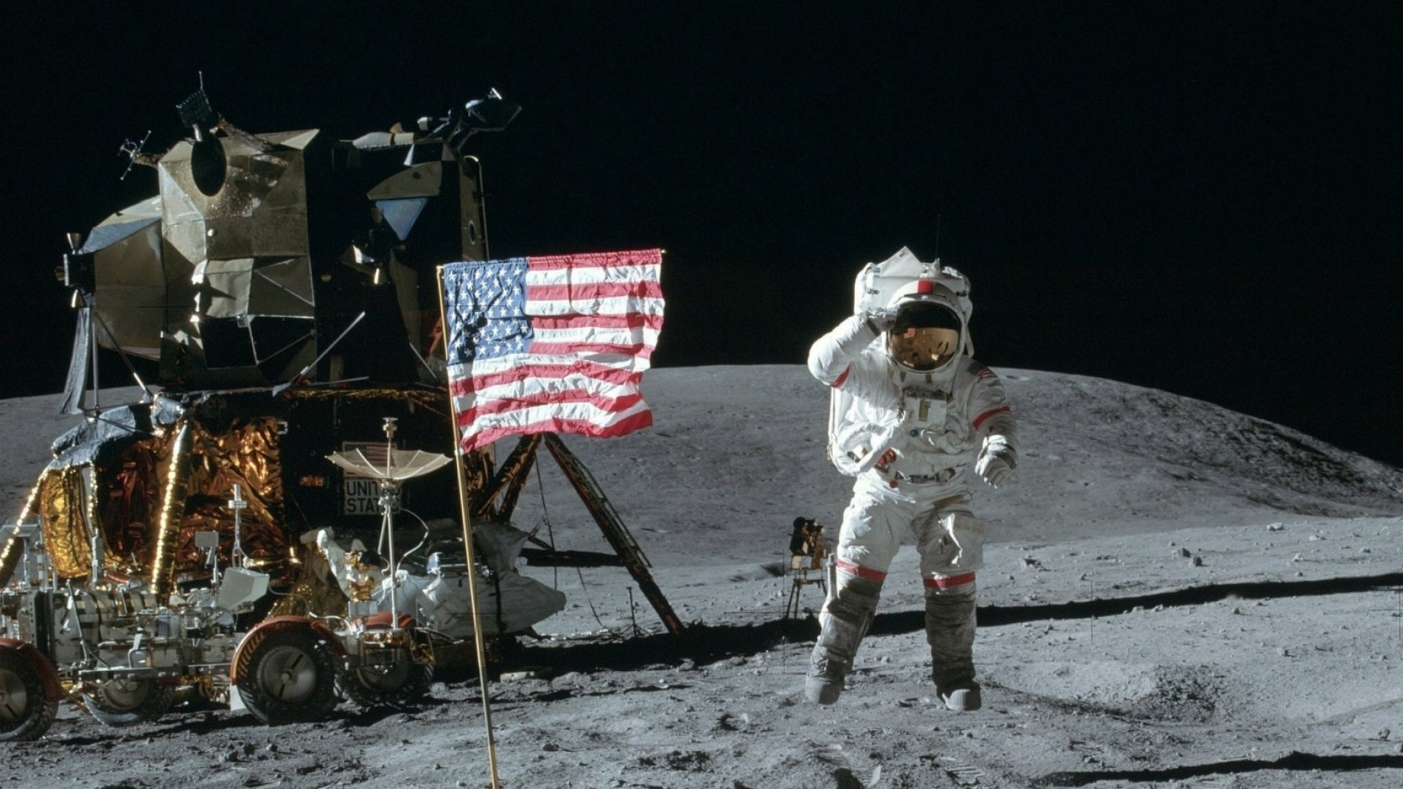 moon landing conspiracy theories - HD 2048×1152