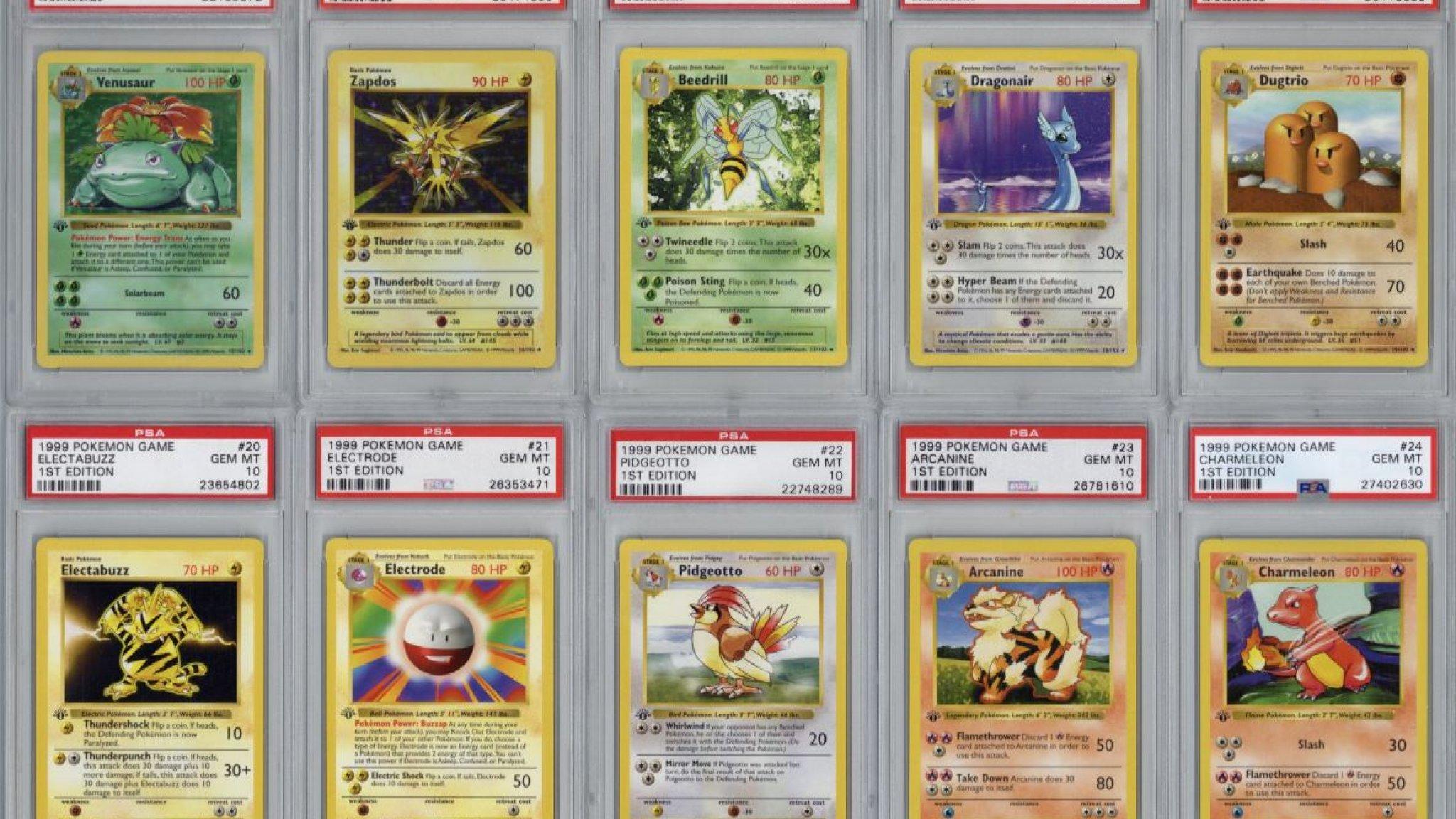 Verzameling Pokémonkaarten uit 1999 geveild voor 107.000 dollar