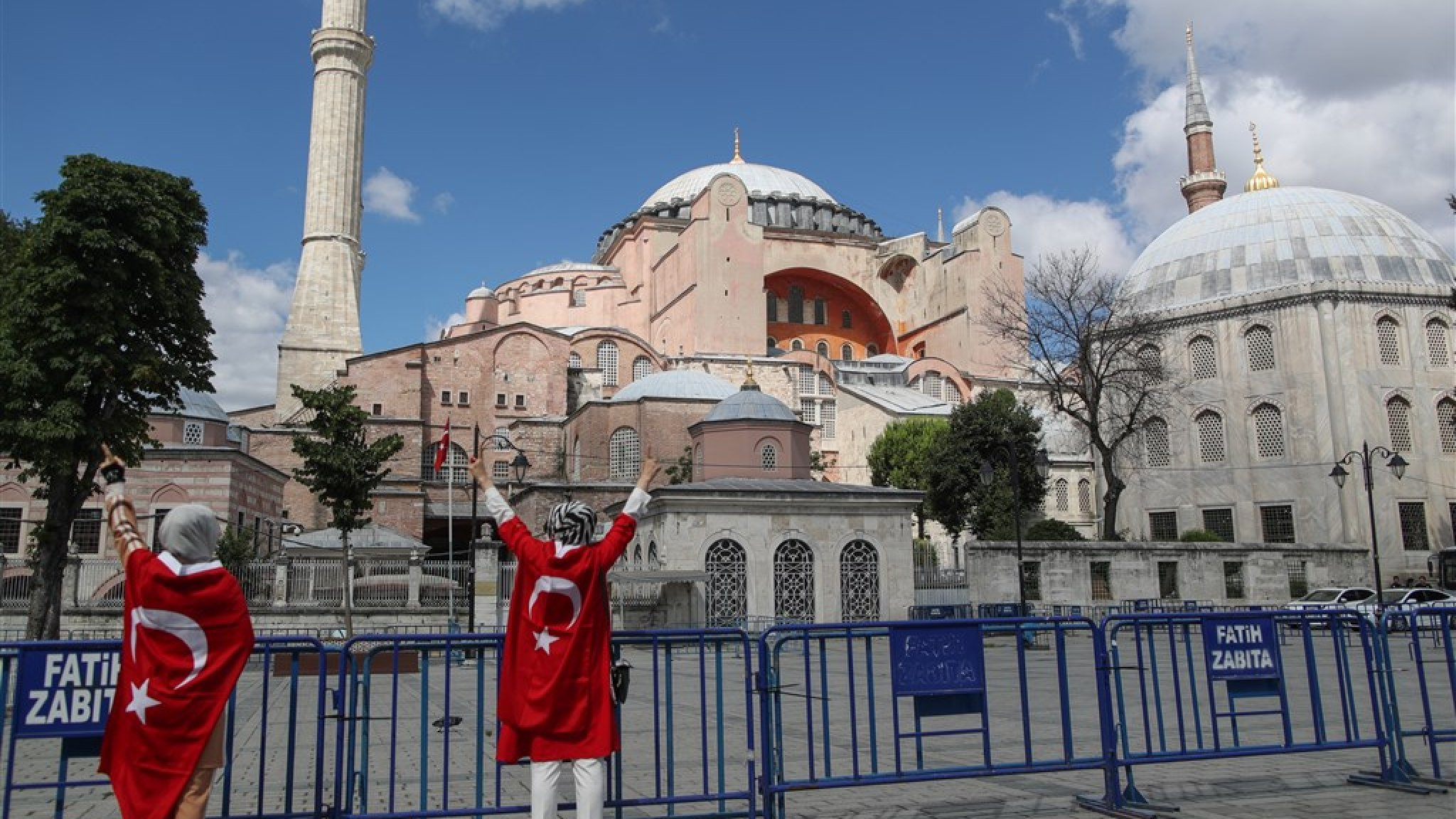 The originally Christian cathedral is a popular tourist attraction in Istanbul. The idea of turning it into a mosque comes from President Erdoga