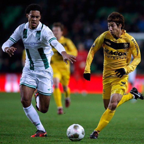 Van Dijk in dienst van FC Groningen.