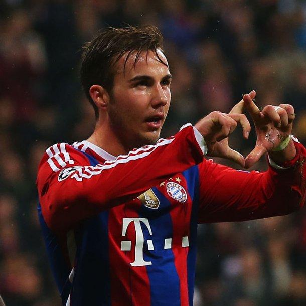 Mario Götze in het shirt van Bayern