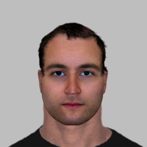 De digitale schets van één van de verdachten die de Franse politie heeft vrijgegeven.