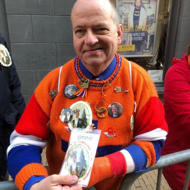 Oranjefan Oscar Meijer staat elke Prinsjesdag voor dag en dauw op.