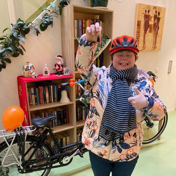 Yvette is superblij met haar fiets