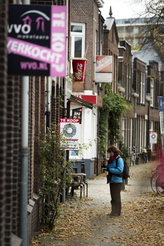 In 2012 stonden huizen vaak maandenlang te koop, zoals ook hier in Utrecht.