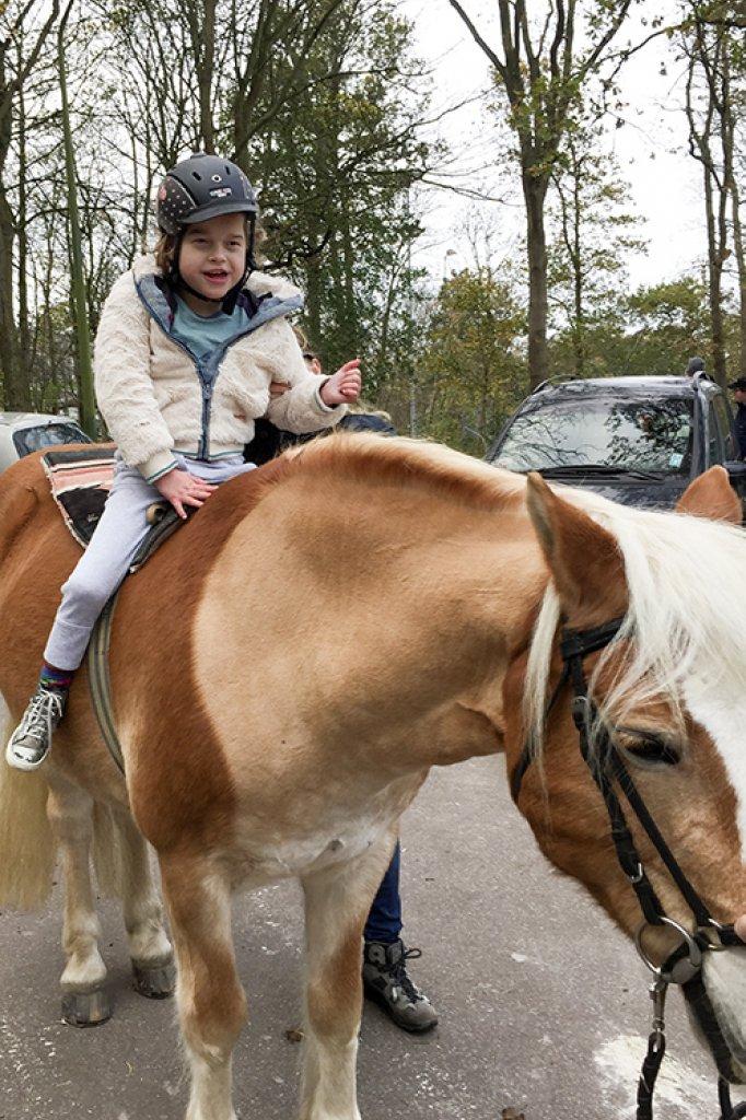 """""""Voor een half uur paardrijden, zijn we drie uur onderweg."""""""
