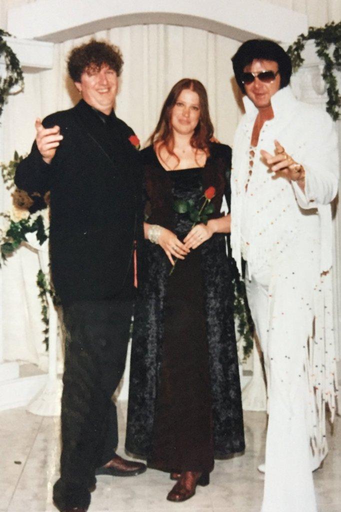 Swanny en Bert trouwden in Las Vegas.