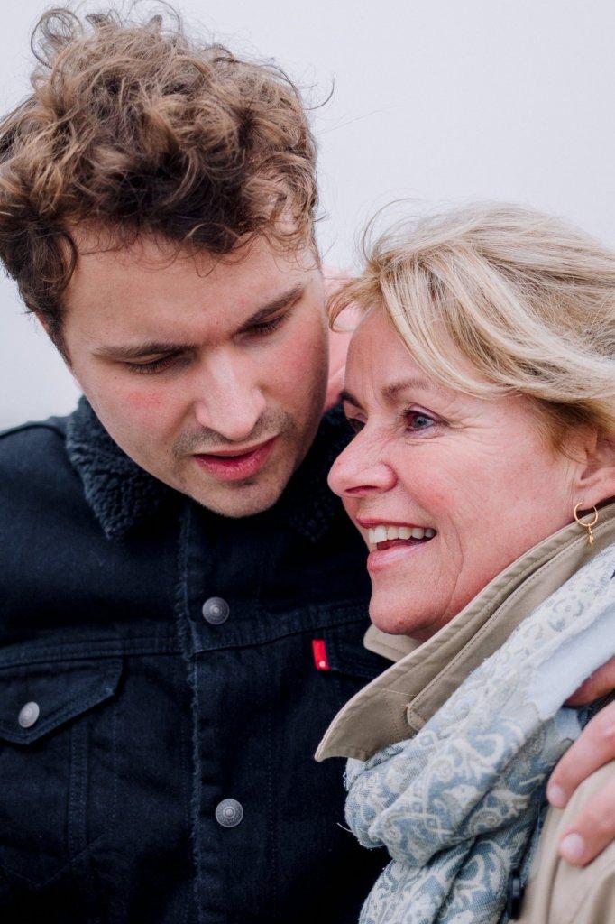 Ebel en zijn moeder Willemien.