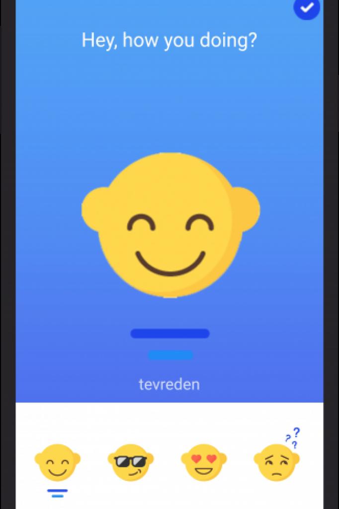 Hoe gaat het? De emoji van G-Moji.