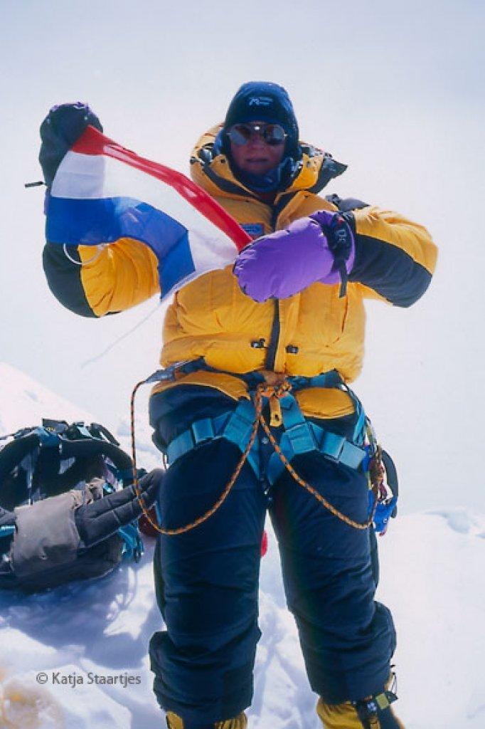 Katja Staartjes was in 1999 de eerste Nederlandse vrouw de top van de Everest.