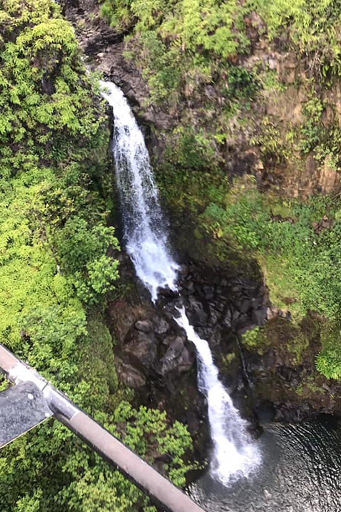 Een waterval vlak bij de plek waar Amanda Eller werd gevonden.