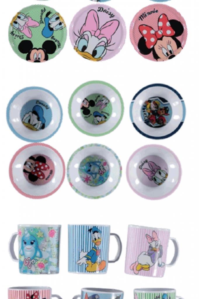 Alle borden, mokken en kommen van Disney
