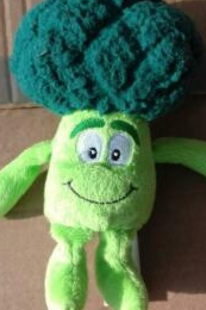 De Lidl bracht knuffels in de vorm van groente uit, zoals Bram Broccoli.