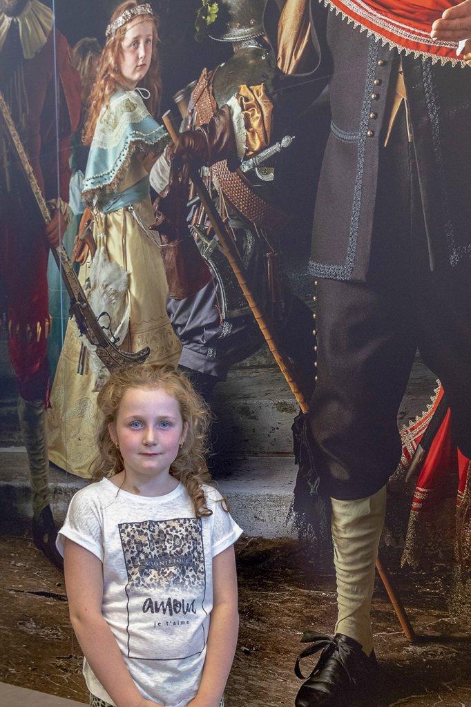 Lizzy met haar portret