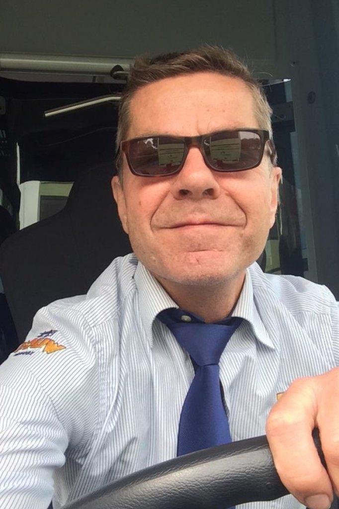 Chauffeur/docent Martin te Lintel Hekkert.