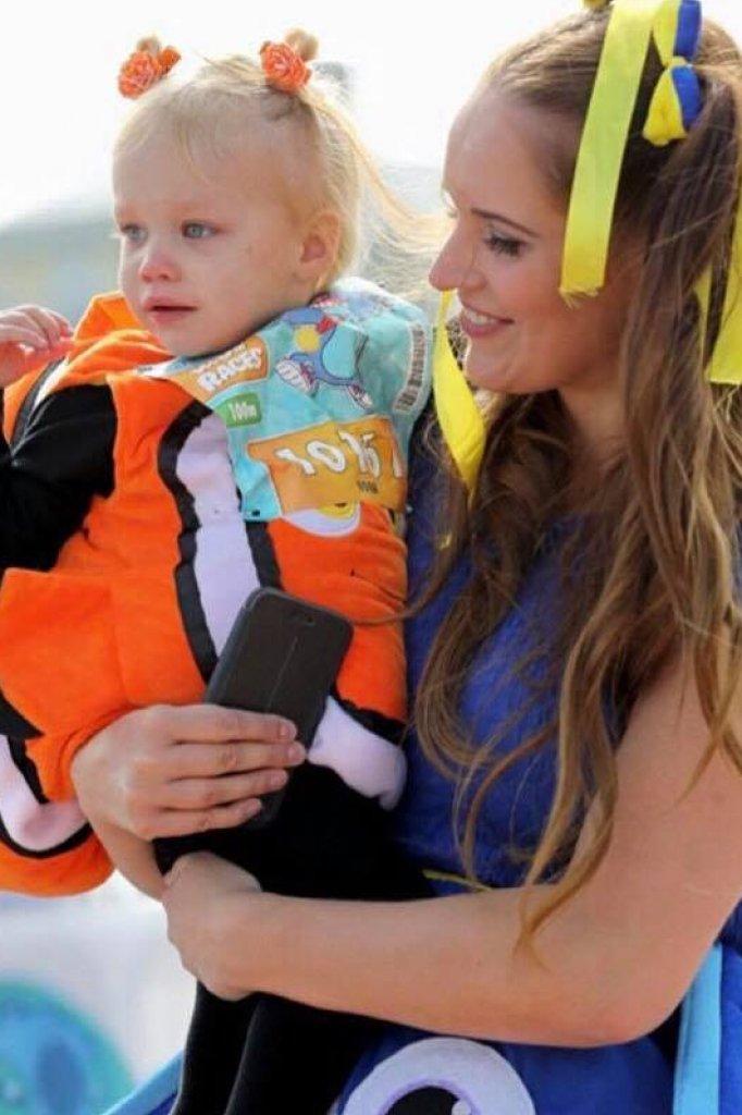 Janine deed vorig jaar met haar dochter mee aan de kidsrun