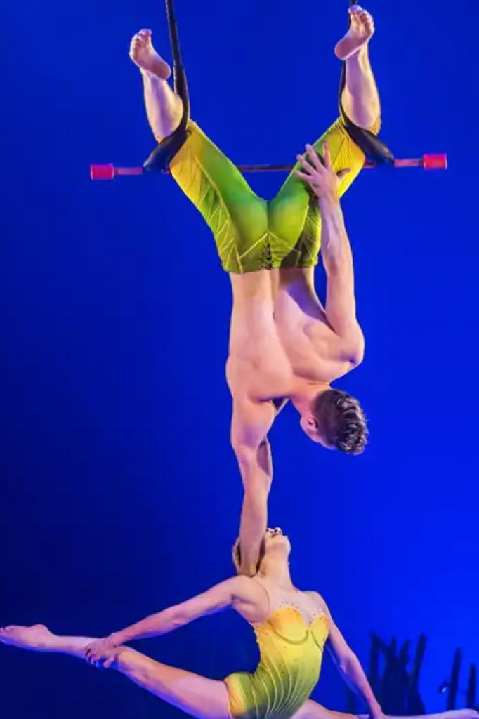 Trapezeduo in actie bij Cirque du Soleil